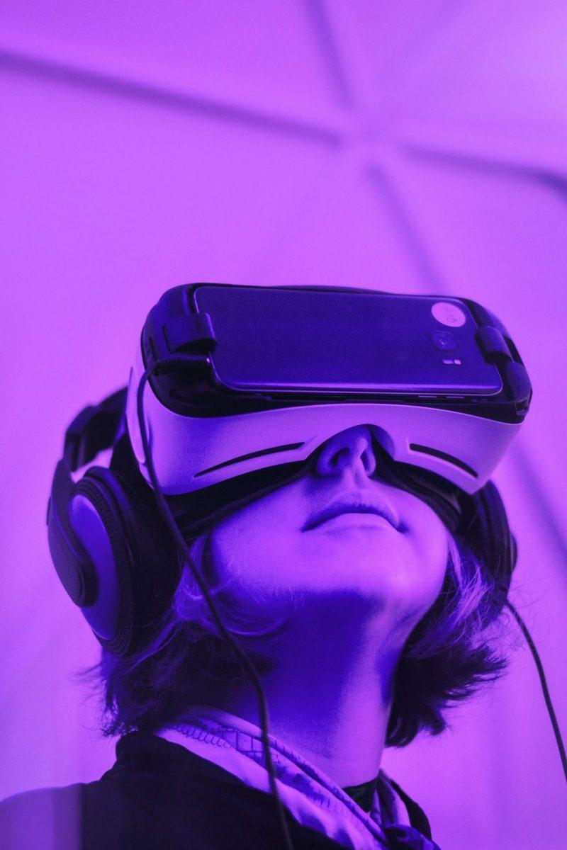 Virtual Reality purple